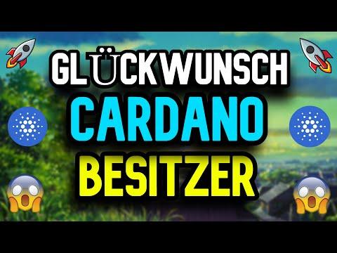OMG!!! Cardano Besitzer – GLÜCKWUNSCH !!! – ES kommt BALD – ADA Cardano Deutsch Kryptowährung News