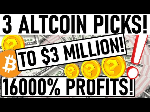 +16000% PROFIT PICKS! 3 ALTCOIN PICKS TO $3 MILLION! CRITICAL BITCOIN MOVE IN 24HRS! MUST HOLD ALTS!
