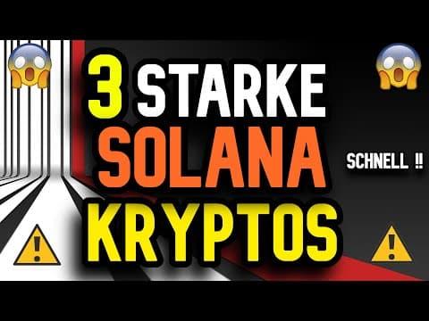 Solana Hype verpasst? SCHAU DIESES Video ! DIESE Kryptos EXPLODIEREN vielleicht auch ! Kryptowährung