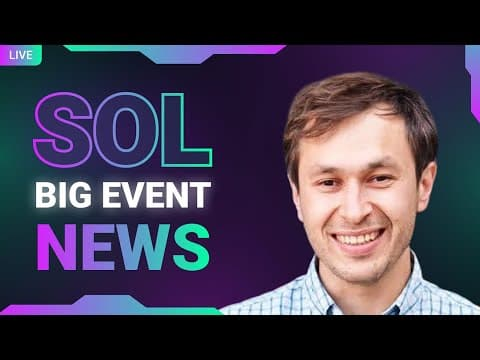 Official Solana event |  GIGANTIC Explosion Coming (Solana Will BEAT Altcoins & Crypto Signals) LIVE