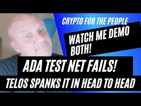 Demo! Watch me try Cardano testnet and it fails over and over!  Telos testnet SMOKES ADA testnet!