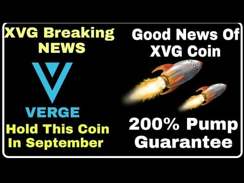 Big News About Verge Coin || XVG coin Price Prediction 200% Pump Guarantee || Don't Sell it