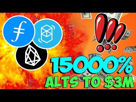 3 ALTCOINS TO $3 MILLION – 15000% PROFIT ALTCOIN – Filecoin, EOS, Fantom