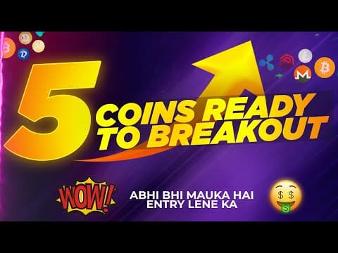 5 coins ready for breakout🚀 | best cryptocurrency to invest 2021 | which crypto coin to buy now