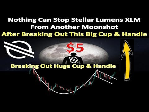 Nothing Can Stop Stellar Lumens XLM From Another Moonshot After Breaking Out This Big Cup & Handle