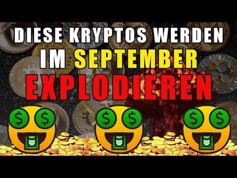 Top 5 Kryptowährungen die im SEPTEMBER 2021 explodieren ?