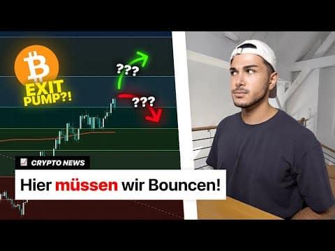 Bitcoin REJECTION! Solana unaufhaltbar! & NEUER NFT Marktplatz! | Crypto News