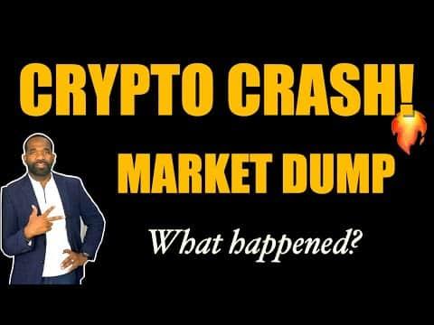 CRYPTO CRASHED!! | MARKET DUMP! | Hot Stock! 🚀