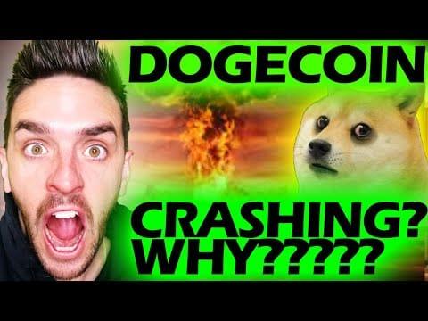 DOGECOIN AND CRYPTOS CRASHING!!!!!!!!!!!!!!! #DOGECOIN #DOGE #CRYPTOCRASH