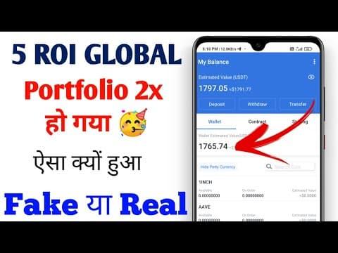 Roi token listing new updates | 5 Roi global portfolio 2x how ? | Roi token withdrawal | ROI/USDT