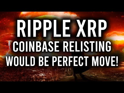 RIPPLE XRP: COINBASE RELISTING XRP WOULD BE PERFECT RIGHT NOW! & HERE'S WHY ALGO IS PUMPING!
