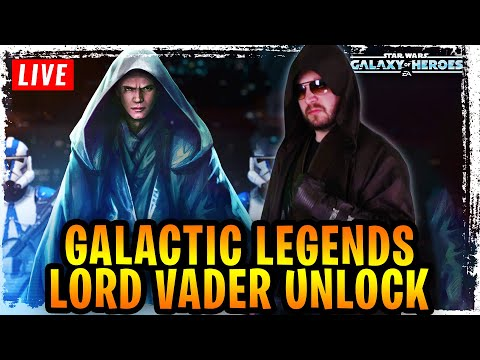 GALACTIC LEGENDS LORD VADER UNLOCKED + HERO'S FALL EVENT GAMEPLAY LIVE – GALAXY OF HEROES